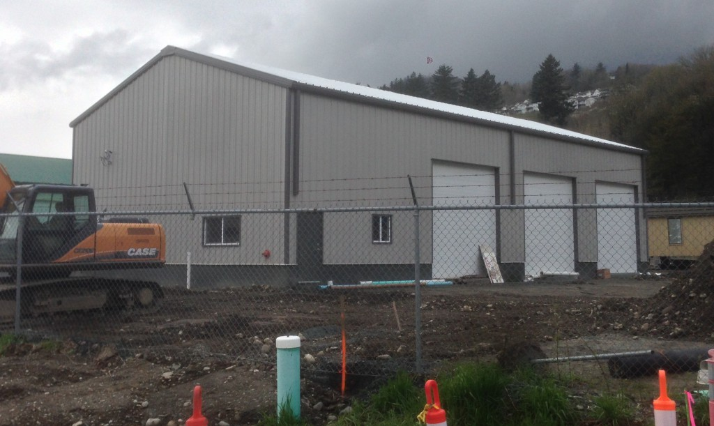 Finished steel building construction