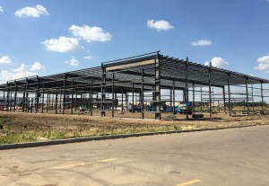 Construction of pre-engineered steel building