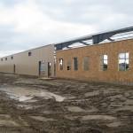Half-finished metal building exterior