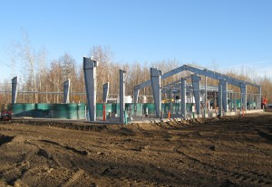 Pre-engineered steel building construction