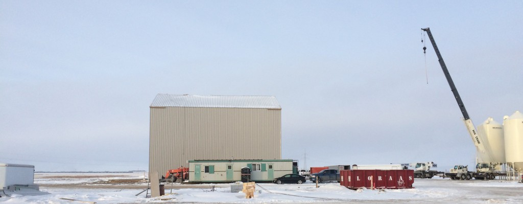 Erecting a metal building in winter
