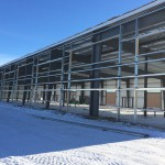 Pre-engineered metal building without siding