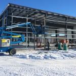Finishing framing metal building