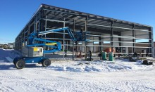 Finishing framing metal building