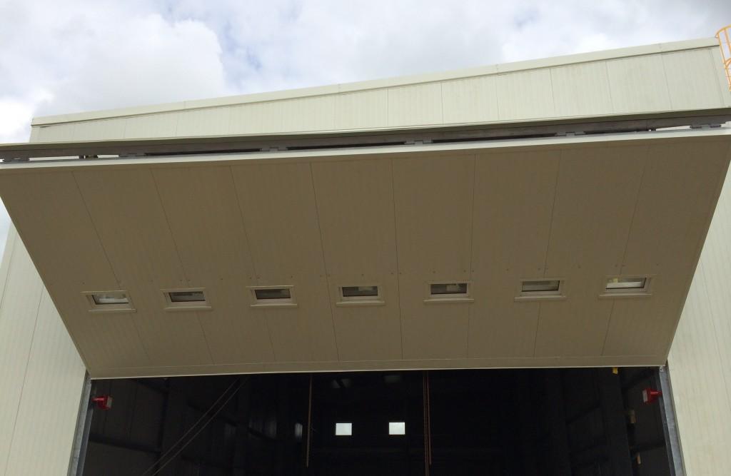 Metal building garage door